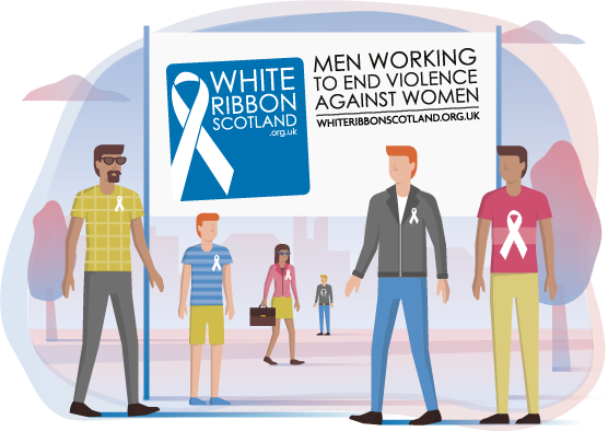 White Ribbon Scotland logo